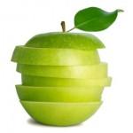 remover manchas de maçã