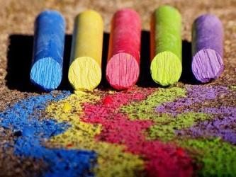 manchas de lápis de cera