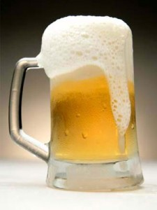 nódoas de cerveja